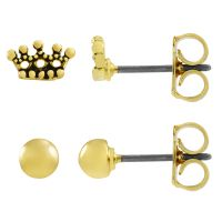femme Juicy Couture Jewellery Crown Expressions Stud Earrings Set Watch WJW62490-712