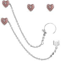 Ladies Juicy Couture Base metal Heart Arrow Luxe Wishes Earrings WJW62495-040