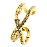 Ladies Juicy Couture Gold Plated Pave Infinity Luxe Wishes Ring