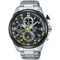Herren Pulsar Chronograf solar betrieben Uhr