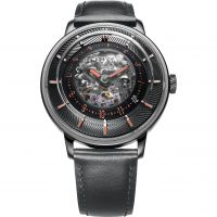 Mens FIYTA 3D Time Skeleton Automatic Watch