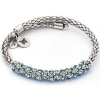 Damen Chrysalis Silber Plated Bohemia Energy Aquamarine Kristall Verpackung Armreif