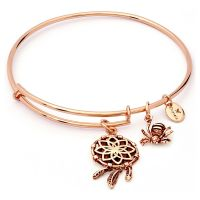 Ladies Chrysalis Rose Gold Plated Charmed Dream Catcher Expandable Bangle