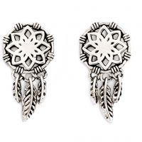Damen Chrysalis Silber Plated mit Anhänger Dream Catcher Ohrringe