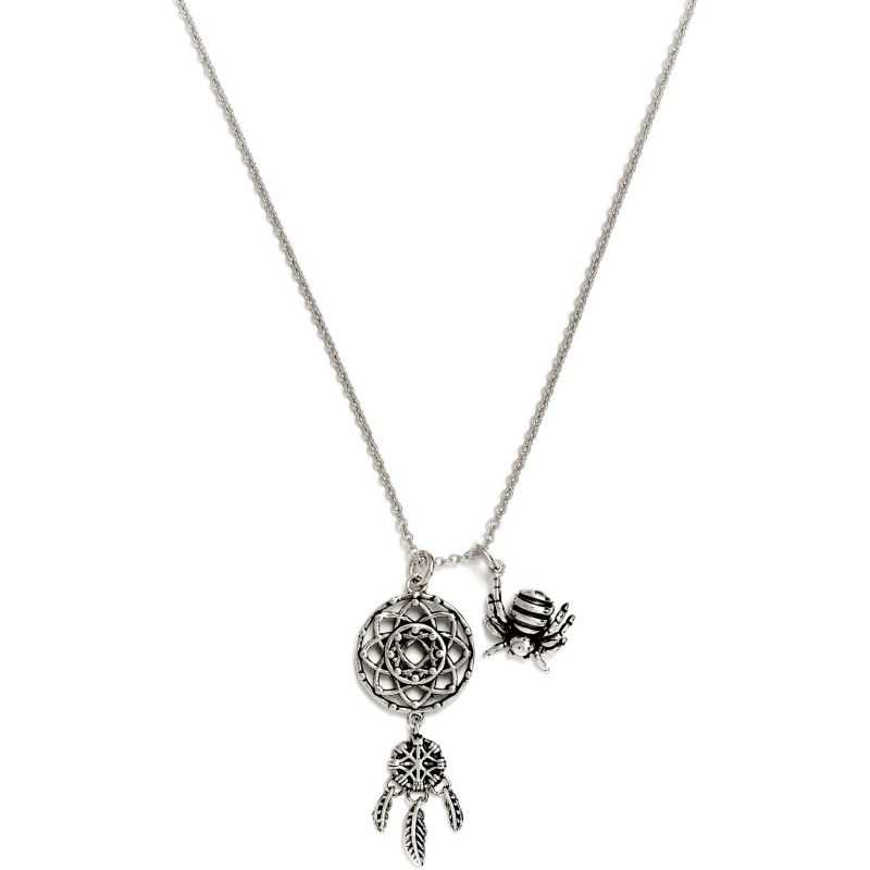 Ladies Chrysalis Silver Plated Charmed Dream Catcher Necklace CRNT0208SP