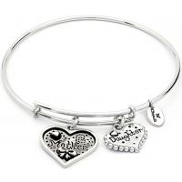 Ladies Chrysalis Silver Plated Thinking Of You Mother Daughter Expandable Bangle CRBT0721SP