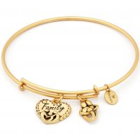 Ladies Chrysalis Gold Plated Thinking Of You Family Expandable Bangle CRBT0723GP