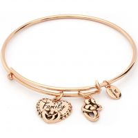 Ladies Chrysalis Rose Gold Plated Thinking Of You Family Expandable Bangle