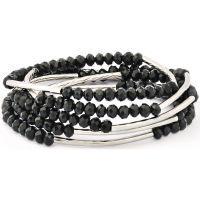 femme Chrysalis Obsidian Black Self Belief Elasticated Necklace/Bracelet Wrap Watch CRWF0001SP-G