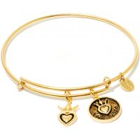 Ladies Chrysalis Gold Plated Friend & Family Friendship Expandable Bangle