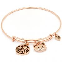 femme Chrysalis Friend & Family I Love Cat Expandable Bangle Watch CRBT0712RG