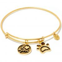 Ladies Chrysalis Gold Plated Friend & Family I Love My Dog Expandable