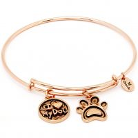 Ladies Chrysalis Rose Gold Plated Friend & Family I Love My Dog Expandable CRBT0713RG