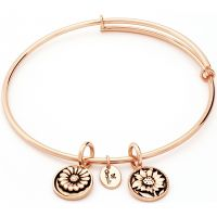 Ladies Chrysalis Gold Plated Ambition Life Believe Expandable Bangle CRBT0003RG
