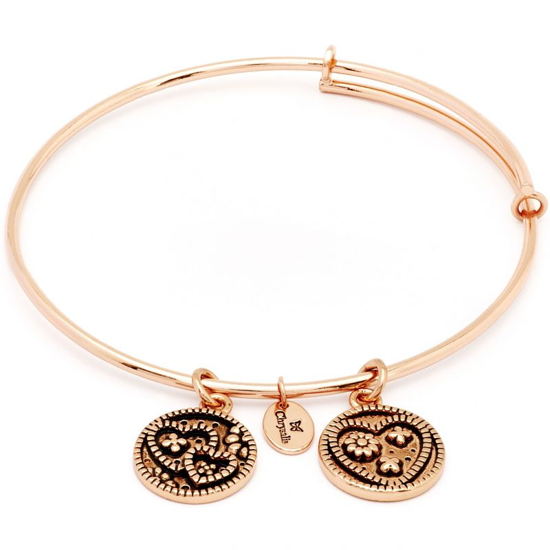 Ladies Chrysalis Rose Gold Plated Love Serentiy Love Expandable Bangle CRBT0304RG
