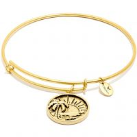 Ladies Chrysalis Gold Plated Happiness Oceania Sun Expandable Bangle