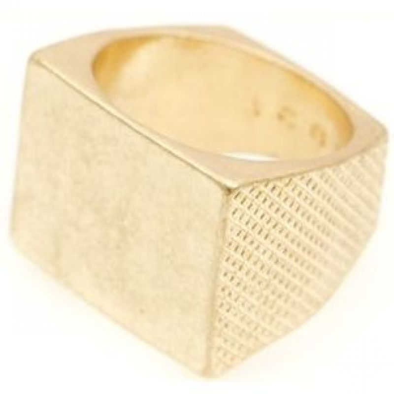 Mens Icon Brand Base metal Rockton Ring Size M P1181-R-GLD-MED