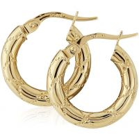 Kiss Motif Hoop Earrings