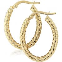 Oval Twisted Hoop Earrings
