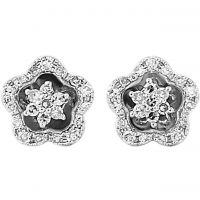 Weißgold Diamant Stud Ohrringe