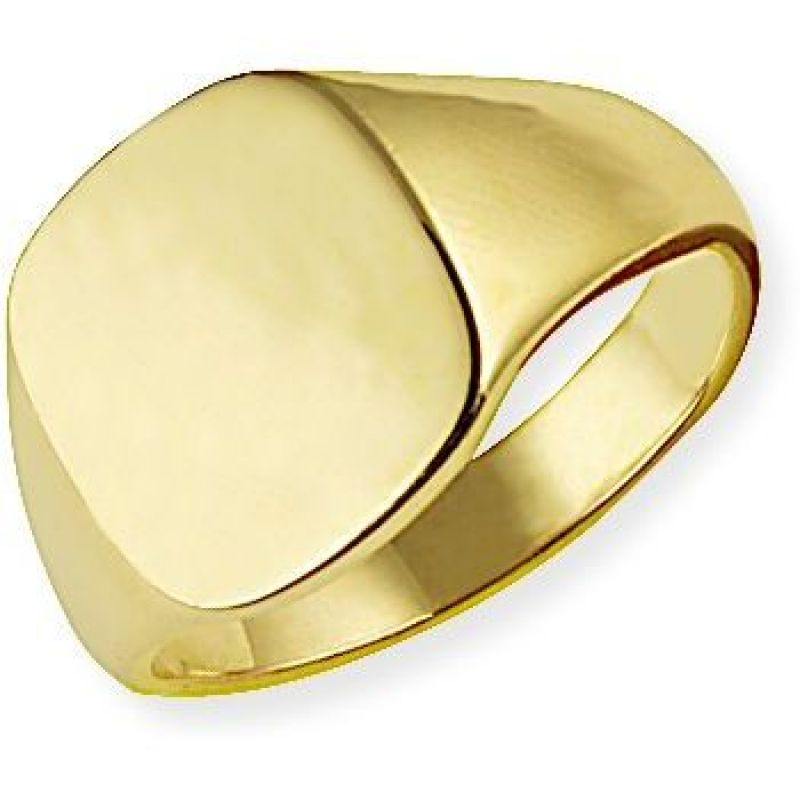 Classic Oxford Cushion  Signet Ring Size S