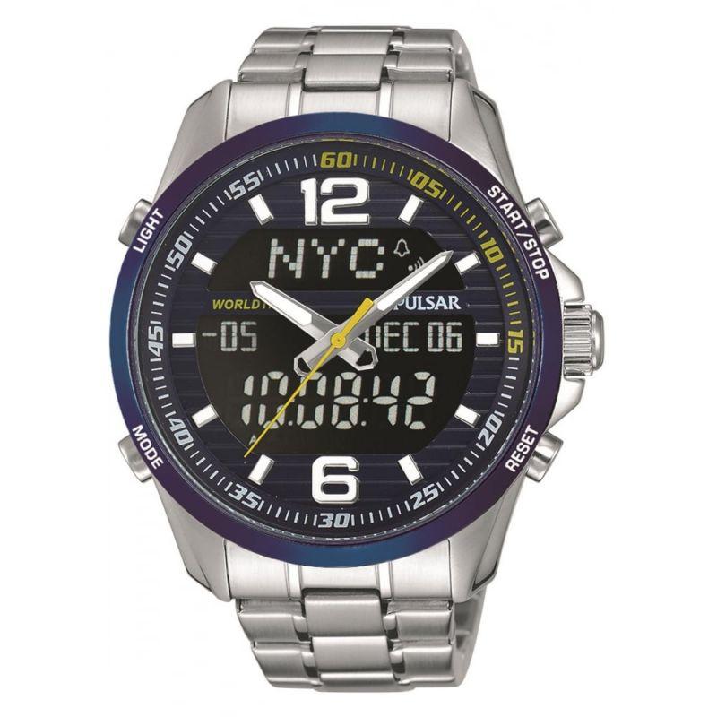 Herren Pulsar Alarm Chronograph Watch PZ4003X1