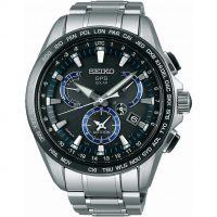 Herren Seiko Astron GPS Chronograf solarbetrieben Uhr
