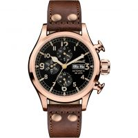 Ingersoll The Armstrong Multifunction Herenhorloge Bruin I02201
