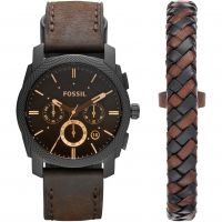 Mens Fossil Machine Gift Set Chronograph Watch