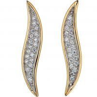 Ladies Fiorelli Gold Plated Wave Stud Earrings