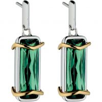 Ladies Fiorelli Sterling Silver Green Crystal Earrings