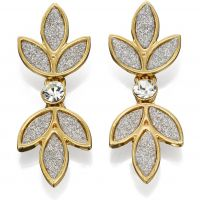 Fiorelli Dam Glitter Flower Earrings Guldpläterad E5163