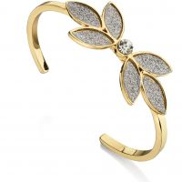 Ladies Fiorelli Gold Plated Glitter Flower Bangle