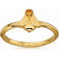 Ladies Orla Kiely Sterling Silver Crystal Set Bee Ring R3496-52