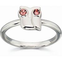 Damen Orla Kiely Sterlingsilber Kristall Owl Ring