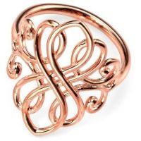 Damen Elemente Sterlingsilber Filigree Ring Größe L