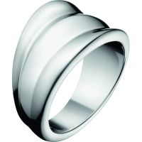 Ladies Calvin Klein Stainless Steel Size L Glorious Ring