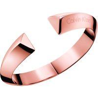Damen Calvin Klein PVD Rosa plating Klein Shape Armreif