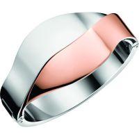 Damen Calvin Klein zwei-Tone Steel und Rose Plate Größe Klein Senses Bico Armreif