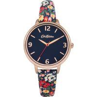 Damen Cath Kidston Mews Ditsy Navy Fabric Armband Uhr