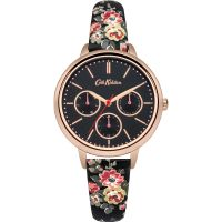 Damen Cath Kidston Kingswood Rose Anthrazit Armband multifunktional Uhr