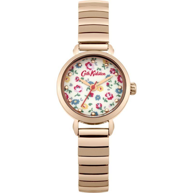 Damen Cath Kidston Little Flower Buds Rose Gold Expander Watch CKL016RGM