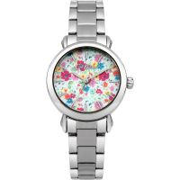 Damen Cath Kidston Mews Ditsy Silber Armband Uhr
