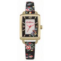 Damen Cath Kidston Spray Blumen Schwarz Armband Uhr