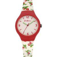 Damen Cath Kidston Strawberries Silicone Strap Watch CKL023RW