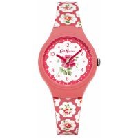 Ladies Cath Kidston Provence Rose Red Silicone Strap Watch