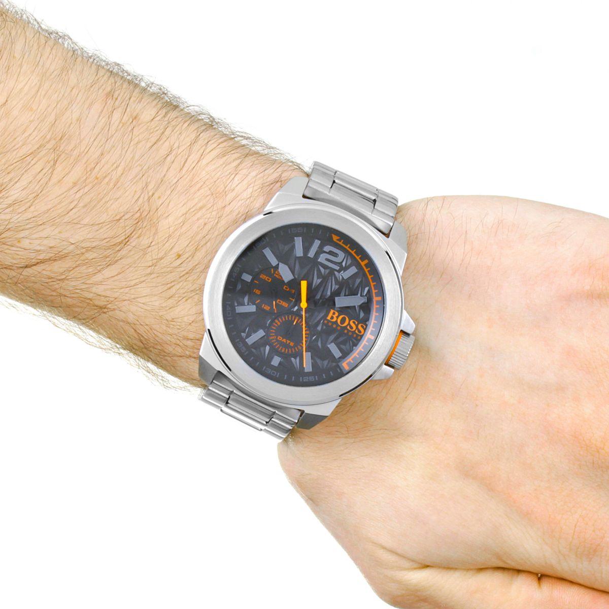 gents hugo boss orange new york watch 1513406. Black Bedroom Furniture Sets. Home Design Ideas