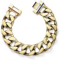 Mens Tommy Hilfiger Gold Plated Bracelet 17cm Wrist