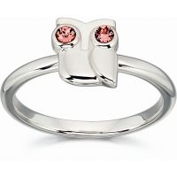 Damen Orla Kiely Sterlingsilber Owl Ring