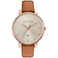 femme Ted Baker Kate Saffiano Leather Strap Watch TE10030738